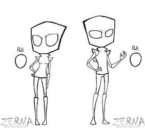 Irken Male and Female Bases by Zerna