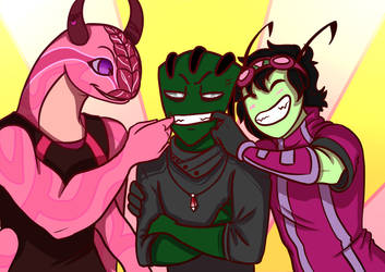 Collab--Aggressively Cheerful by Zerna