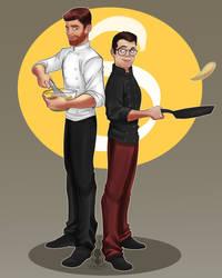 Fanart---James and Ben by Zerna