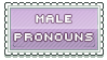 male pronouns stamp by urastamps