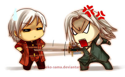 FF7-DMC4: Sephiroth VS Dante by ShiroiNeko-sama