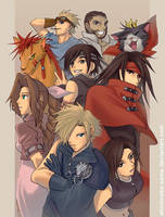 FF7AC: Group Fanart by ShiroiNeko-sama