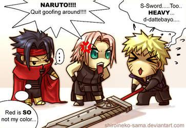 Naruto: FF7AC Cosplay by ShiroiNeko-sama
