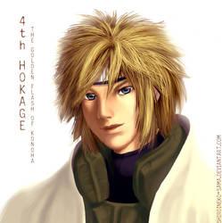 Naruto: 4th Hokage Portrait by ShiroiNeko-sama