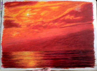 Red Sky At Dawn (better pic) by OnyxFlame