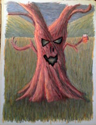 Drunk Tree by OnyxFlame