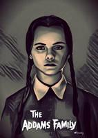 Wednesday Addams by EvanBessy