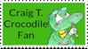Craig T. Crocodile Stamp by CraigTheCrocodile