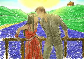 Date at the wood bridge by Glaubart