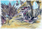 Spaceships in War by Glaubart