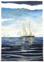 Scenario study - Watercolor by Glaubart