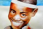Human black skin study - Watercolor by Glaubart