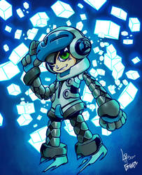 Mighty no. 09 collab work by Glaubart
