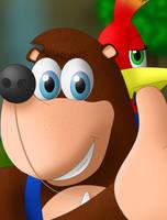 Character Portrait: Banjo-Kazooie by BigDaddyDowney