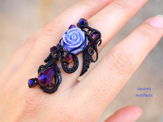 Black wire wrapped Goth Victorian style adjustable by IanirasArtifacts