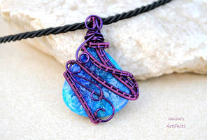Druzy Agate wire wrapped pendant - 2 by IanirasArtifacts