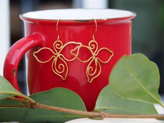 Gold leafy earrings by IanirasArtifacts