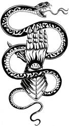 Snake tattoo sketch by GodLikeIkons