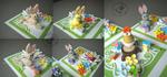 Birthday bunnies - close up by Eti-chan