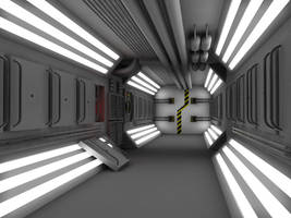 WIP 6 Sci Fi Corridor by 2753Productions