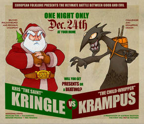 Kringle vs Krampus by MurderousAutomaton