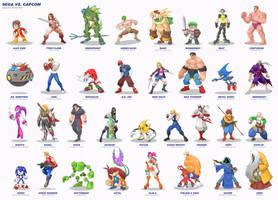 Sega vs Capcom: Sega Roster by MurderousAutomaton