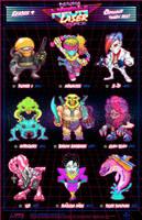 Creepazoids: Neon Laser Force by MurderousAutomaton