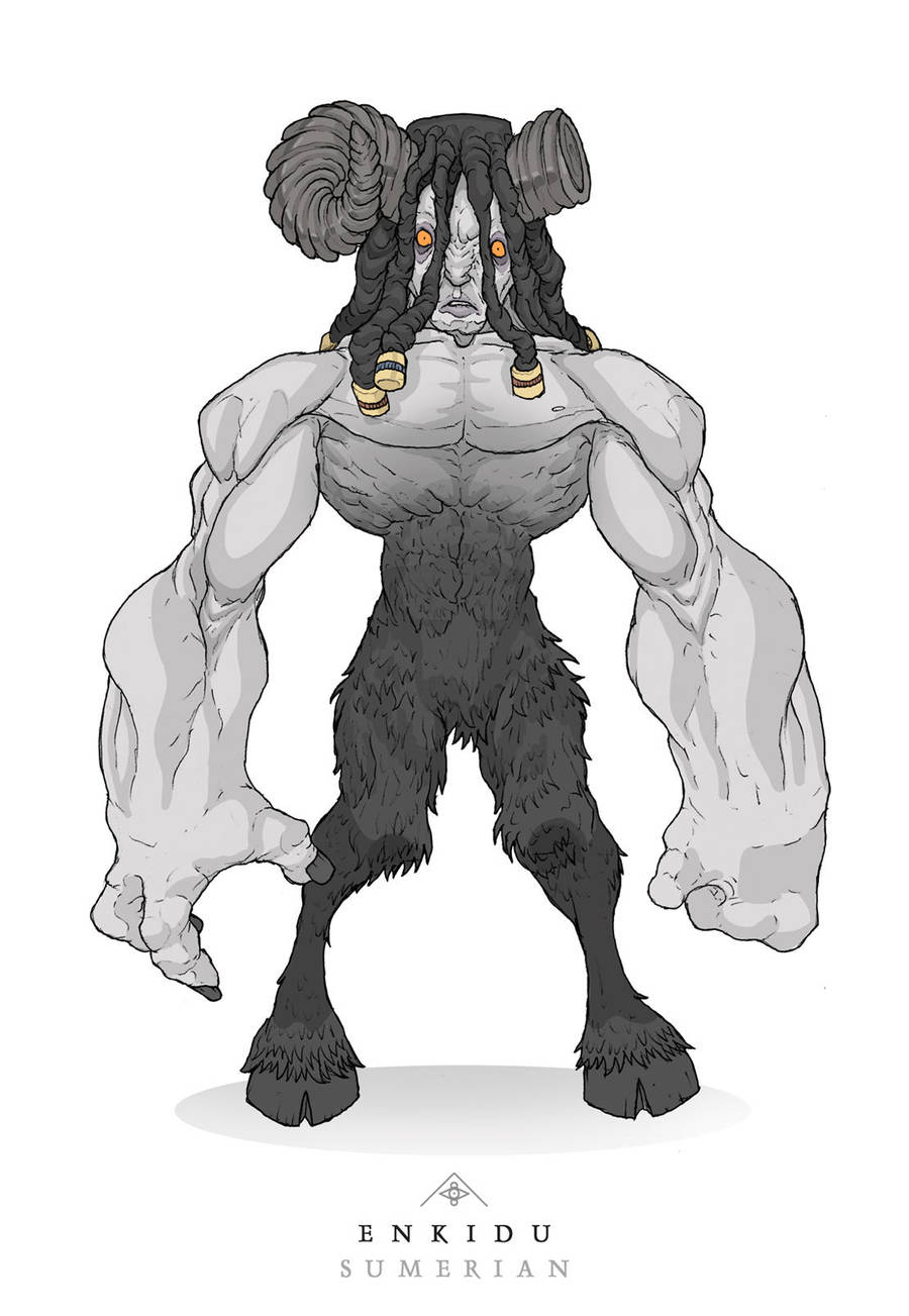 Mythos: Enkidu by MurderousAutomaton