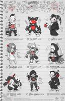 Creepazoids: Doodles by MurderousAutomaton