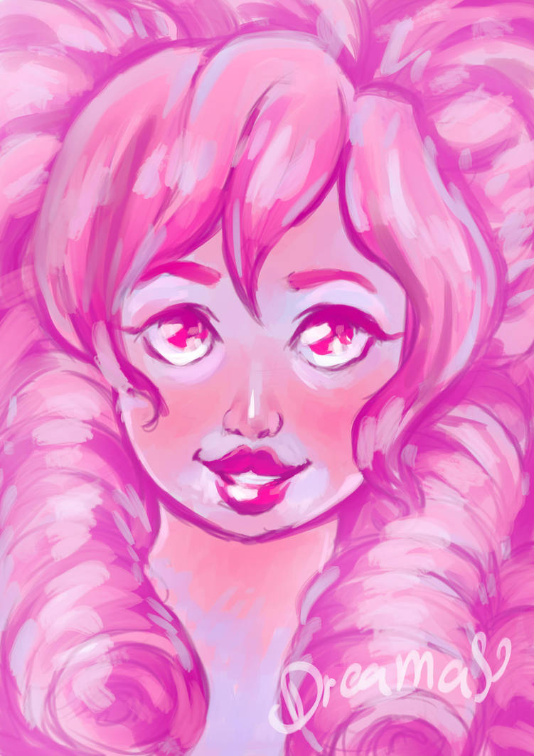 Ridiculous Pink lady.  Turns out painting gems is fun~~~ I might do more later...   Please Comment