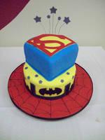 Superhero cake by see-through-silence