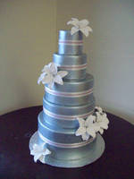 Silver wedding cake by see-through-silence