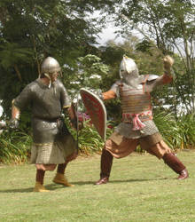 Boyar vs western man at arms. by Edwulff