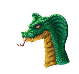 Snake Headshot by Vithsiny