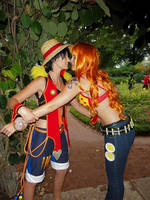 Luffy and Nami Cosplay by Lucy-chan90