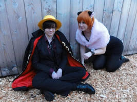 Luffy Nami Strong World One Piece Cosplay by Lucy-chan90