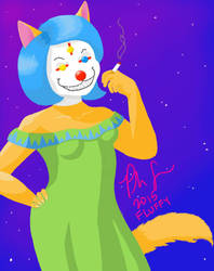 Clown Cat by Wonderwolph