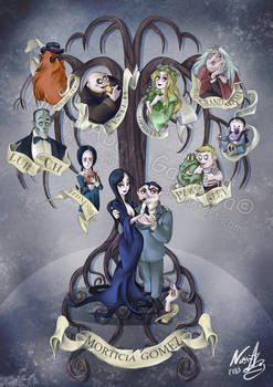 The Addams Family by nuriaabajo