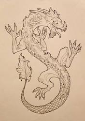Impish Dragon by aanaa