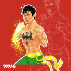 Lewis Tan as Iron Fist by micQuestion