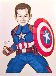 Commission: Client's Nephew as Captain America by micQuestion