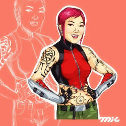 Margaret Cho as Grace Choi by micQuestion