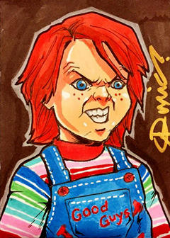 Child's Play Chucky ACEO by micQuestion