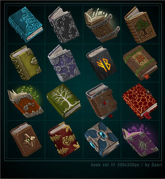 Book Icons by Saarl