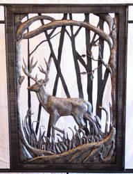 detail deer railing by artistladysmith