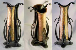 copper vase by artistladysmith