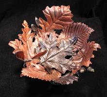 leaf bowl by artistladysmith