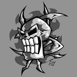 Skull SMILE by hooksnfangs