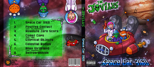 The Jovians CD Album Art by hooksnfangs