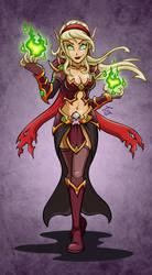 Blood Elf Warlock: Marbelle by hooksnfangs